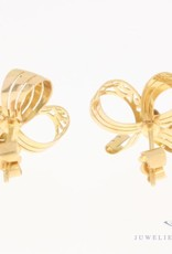 Vintage 18 carat gold bow earrings