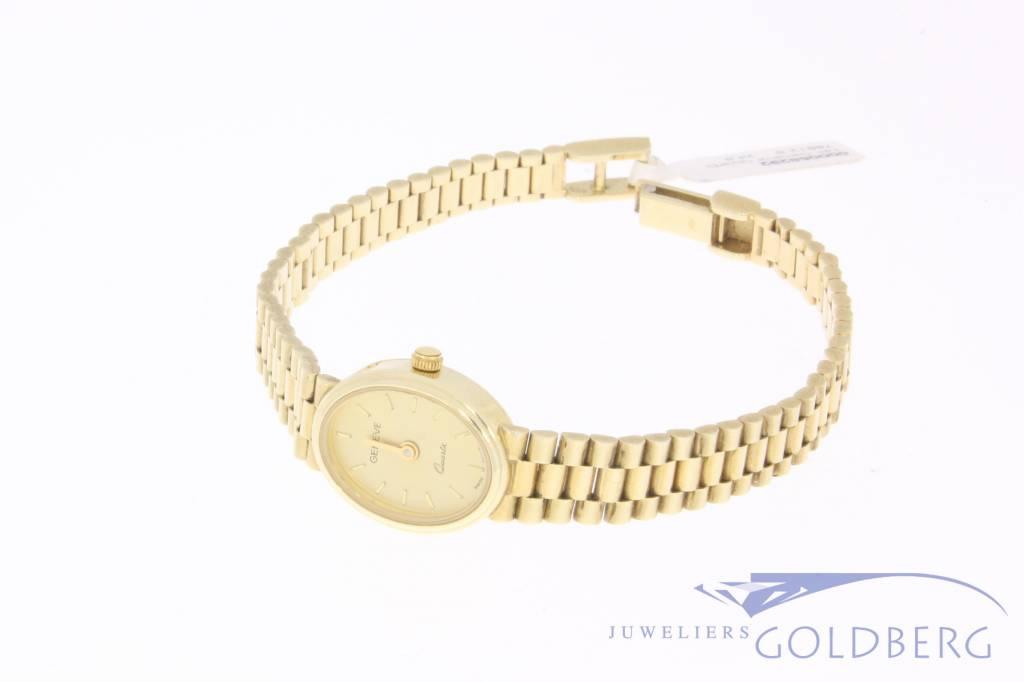 Vintage 14k gold Geneve ladies watch