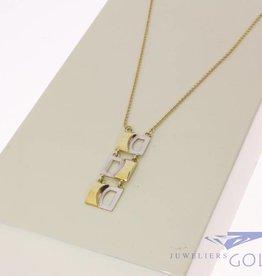Vintage 14k gold necklace with fantasy pendant