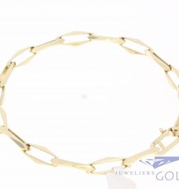 14k gold Closed Forever bracelet 6mm, 20,5cm