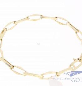 14k gold Closed Forever bracelet 6mm, 20,5cm