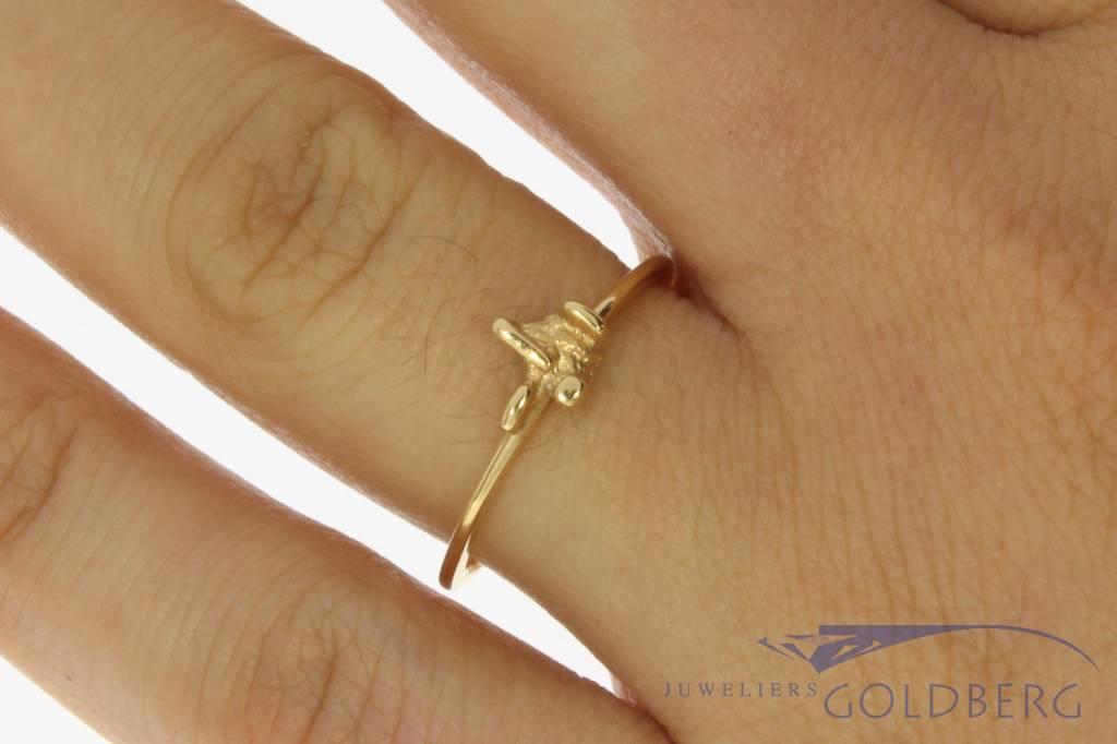 Vintage 14 carat gold Paul van den Hout ring