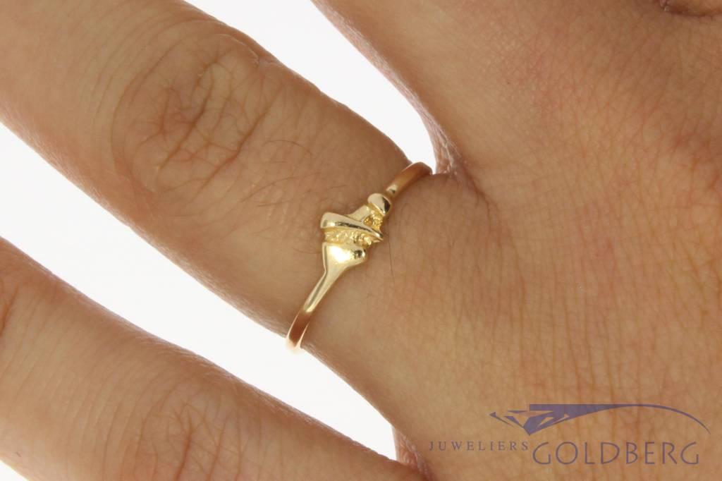 Vintage 14 carat gold Ton van den Hout ring
