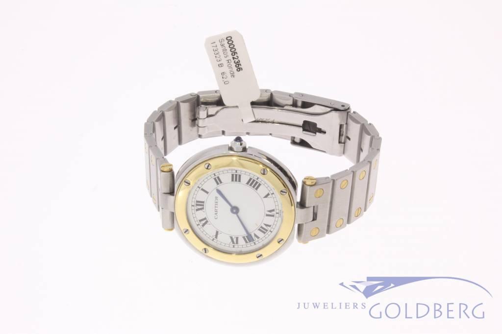 Cartier Santos Ronde 32mm staal goud