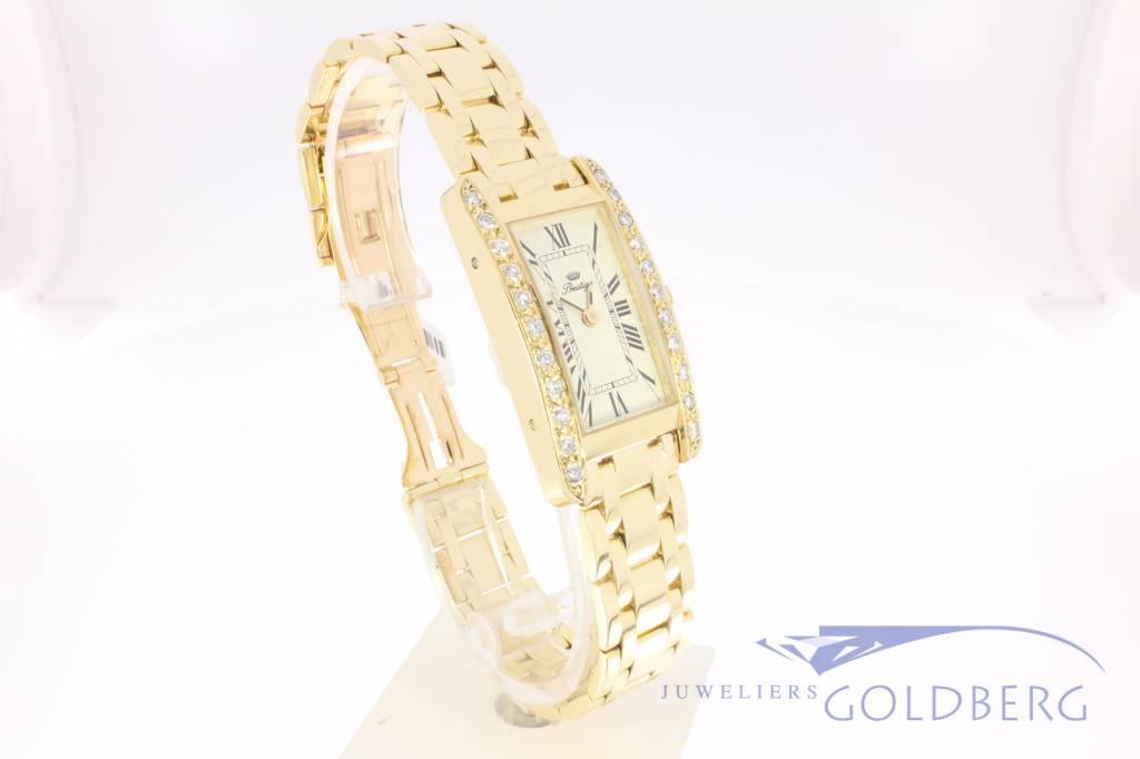 18k gouden dameshorloge Prestige met 0.66ct diamant