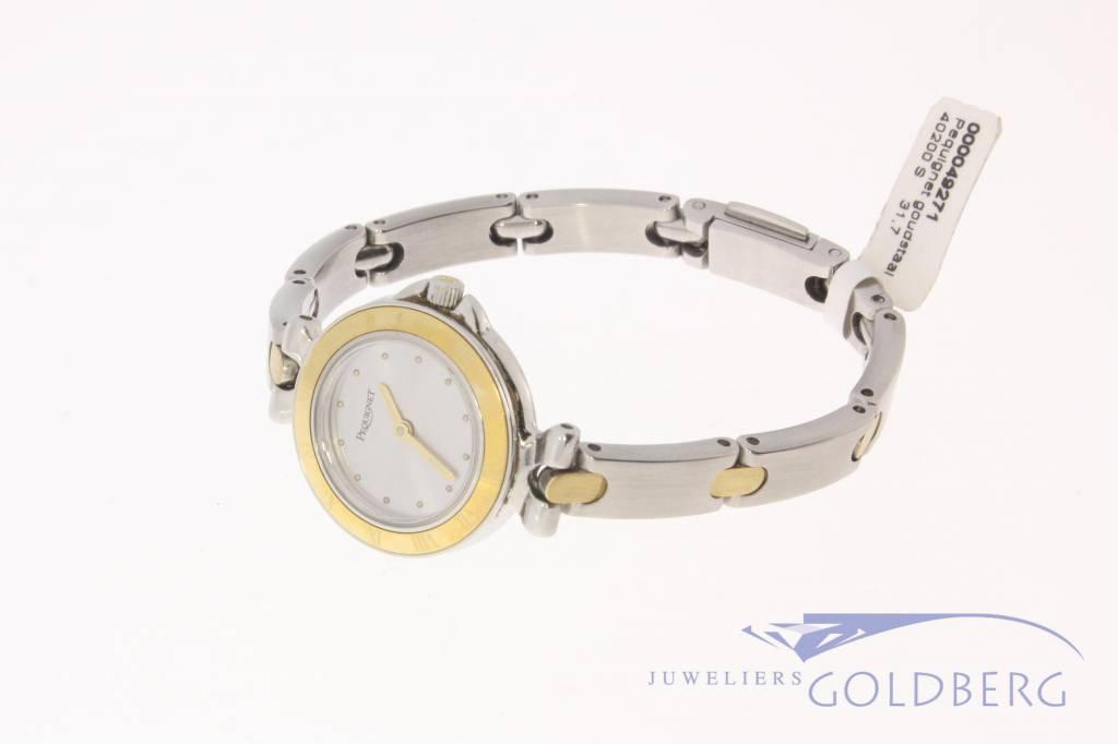 Pequignet dameshorloge staal-goud 24,5mm