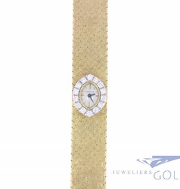 Vintage gold mechanical Cartier ladies watch with diamonds