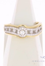 Vintage 18 carat gold ring with ca. 0.45ct brilliant cut diamond