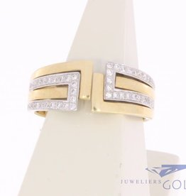 Vintage robust 14 carat gold ring with ca. 0.25ct brilliant cut diamond