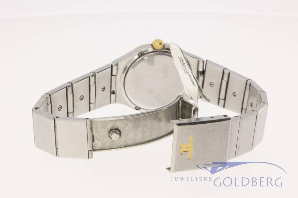 Vintage Jaeger leCoultre dameshorloge goudstaal 6-hoekig
