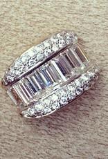 Vintage 18 carat gold pendant with baguette cut zirconia's