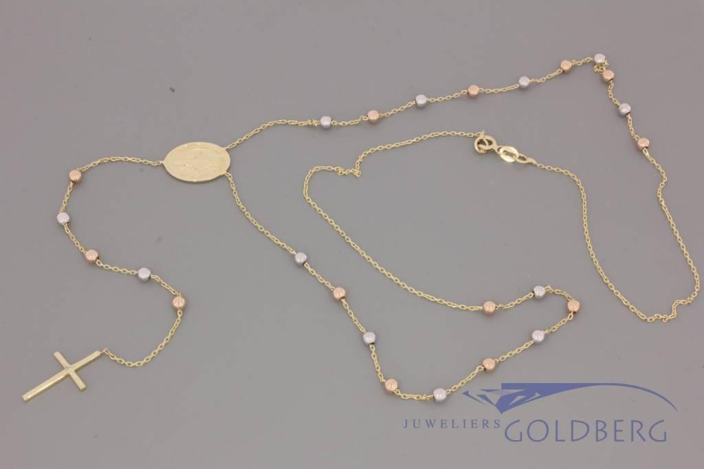 14k gold rosary small model