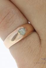 Vintage 14 carat rose gold ring with rose cut diamond