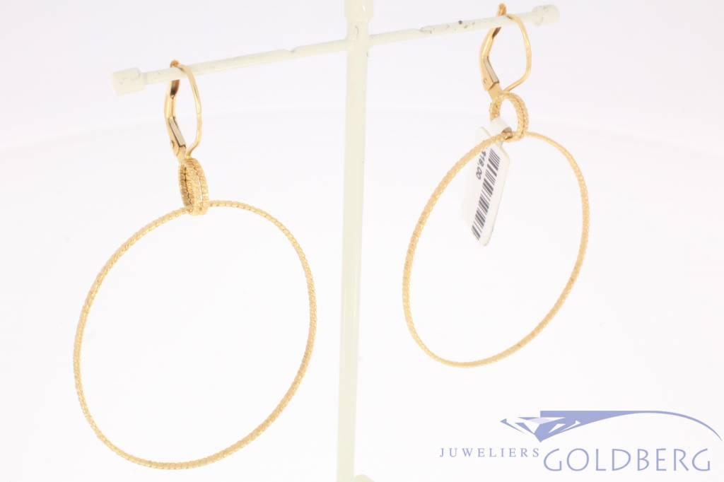 Large vintage 18 carat gold hoop earrings