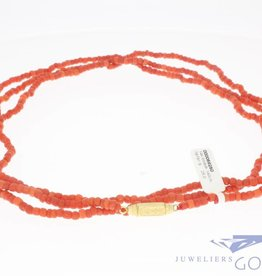 Vintage precious coral necklace 140cm! 3-4mm