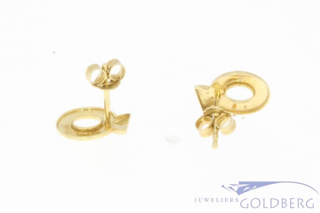 Vintage 14 carat gold circular earstuds