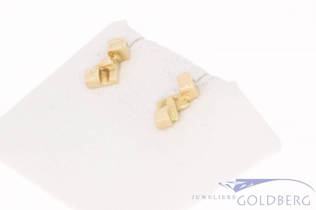 Vintage 14 carat gold Paul van den Hout earstuds