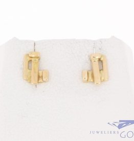 Vintage 14 carat gold Paul van den Hout earrings
