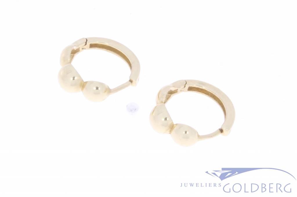 Vintage 14 carat creole earrings