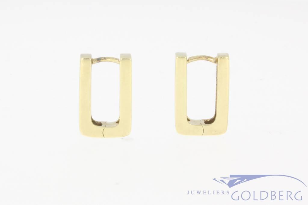 Vintage 14 carat gold rectangular creoles