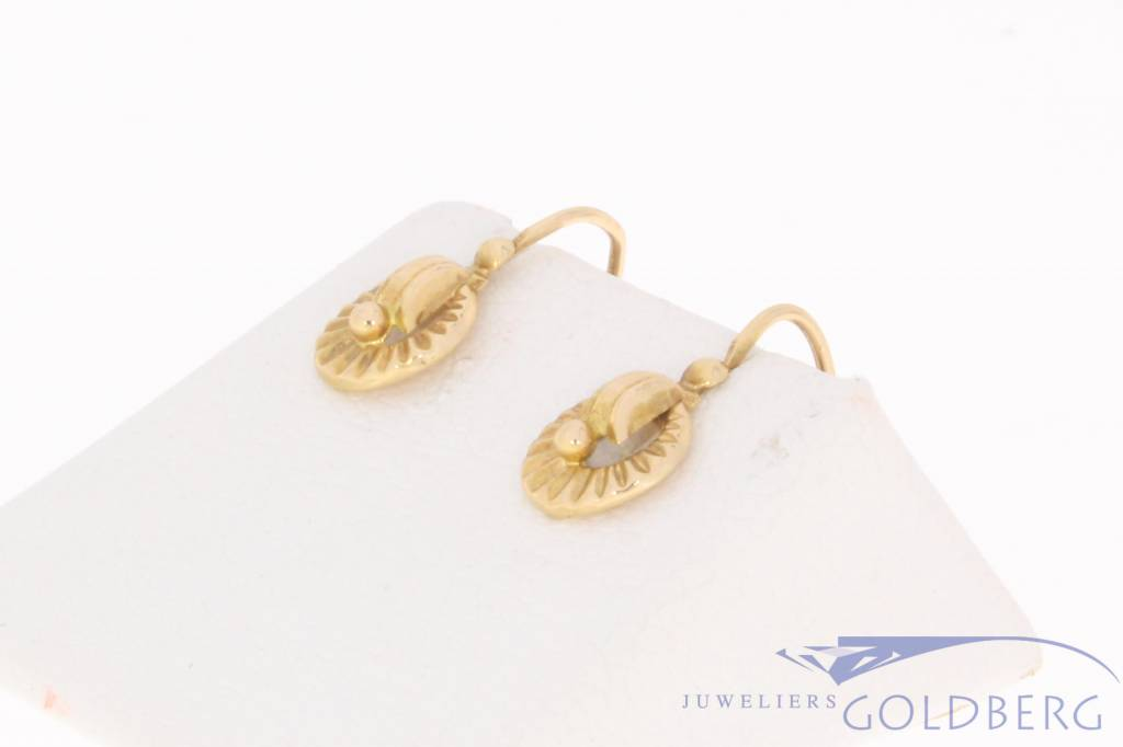 Vintage 18 carat gold earrings France