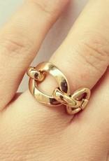 Vintage 18 carat gold fantasy ring