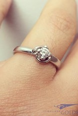 Vintage 18 carat white gold ring 0.22ct brilliant cut  diamond