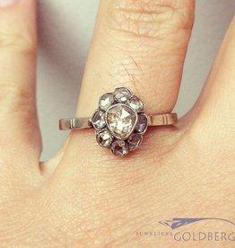Antieke 14k gouden ring diamant Den Bosch 1930-1935
