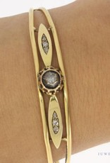 Antique 18 carat gold bangle with rose cut diamond 1814-1953