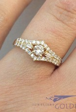 Vintage 18 carat gold ring with ca. 0.50ct diamond