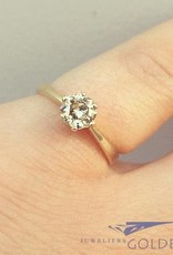 14k gouden solitaire ring met ca. 0.56ct passion fire diamant