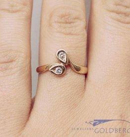 vintage 18 carat gold ring with ca. 0.08 diamond