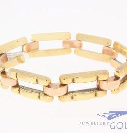 Antieke 14k bicolor gouden armband 1906-1953