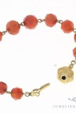 Antieke carneool armband met 14k gouden slot 1925-1963