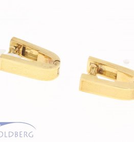 Uniquely shaped vintage 14 carat gold cufflinks