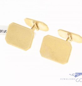 Vintage 14 carat gold rectangular cufflinks