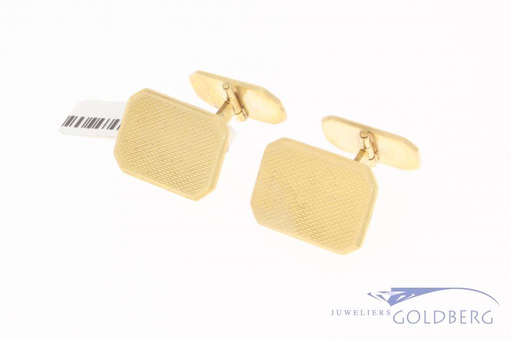 Vintage 14k gouden rechthoekige manchetknopen