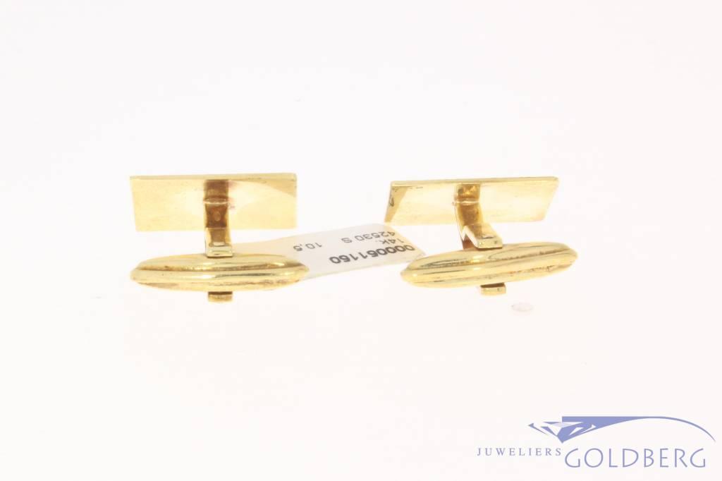 Vintage 14k gouden manchetknopen