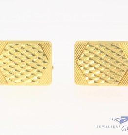 Vintage 14k gouden versierde manchetknopen