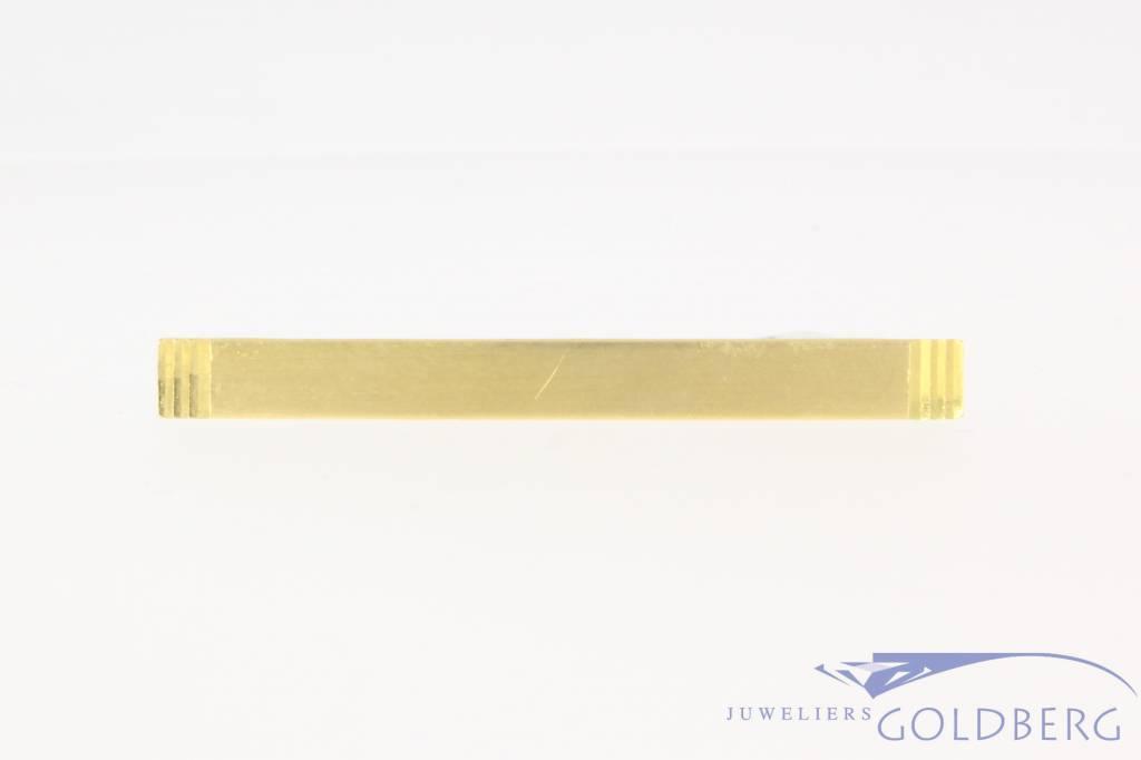 Vintage 14 carat matted gold & metal tie clip