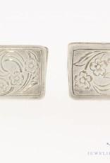 Antieke zilveren versierde manchetknopen 1906-1953