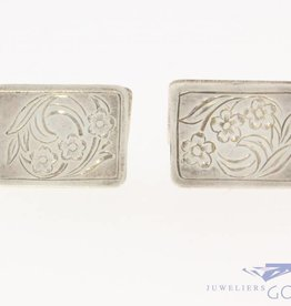 Antique silver adorned cufflinks 1906-1953