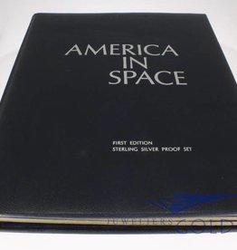 """America in Space"" 36-set silver medals Franklin Mint."