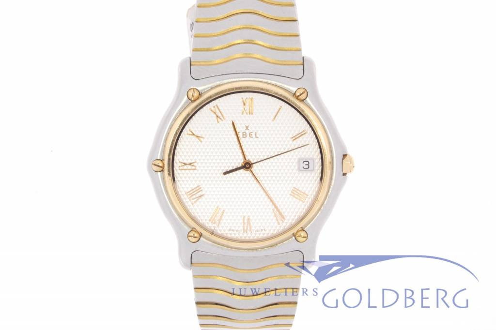 Ebel Sport Classique zilveren wijzerplaat heren Quartz horloge