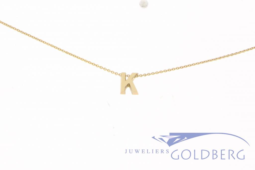 18k gold small letter pendant