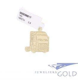 Volvo Truck pendant 14k gold