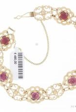 Vintage 14 carat gold bracelet with garnet