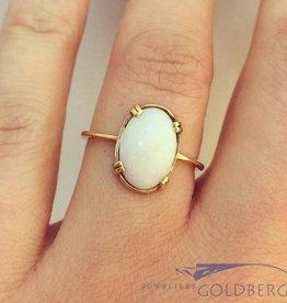 Vintage 14k gouden ring met opaal