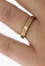 Vintage 14 carat gold matted unisex design ring