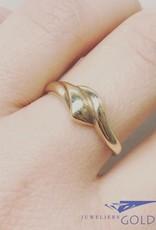 Vintage 14 carat gold wavy ring